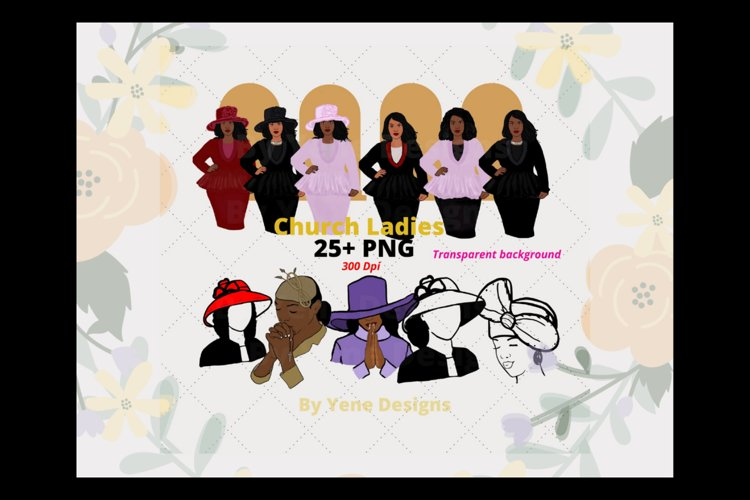 Church ladies Bundle, African American, Black women png example image 1