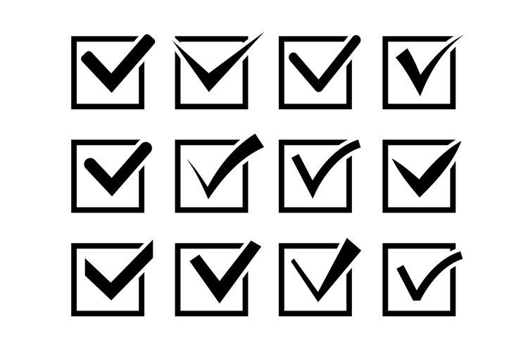 Check mark icon set example image 1