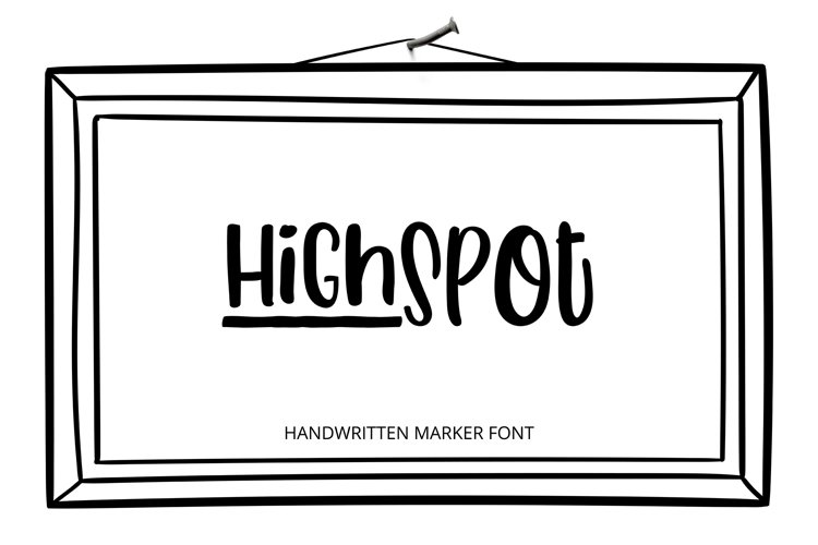 HighSpot Font example image 1