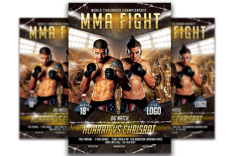 UFC - MMA Fighting Flyer Template #5