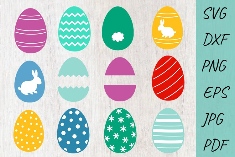 Easter Eggs SVG Cut files, Easter Eggs Clipart Easter bundle