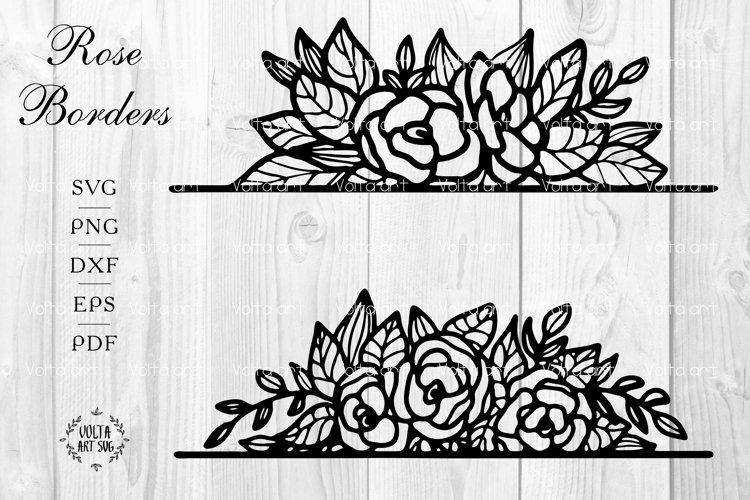 Download Roses Borders Svg Split Flowers Frames Floral Borders 1181898 Decorations Design Bundles