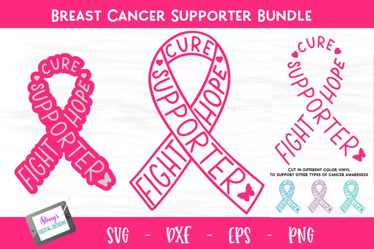 Breast Cancer Awareness SVG- Breast Cancer Ribbon -Supporter