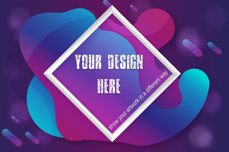 Mockup - PS Smart Objects - Colorful dreams example image 1