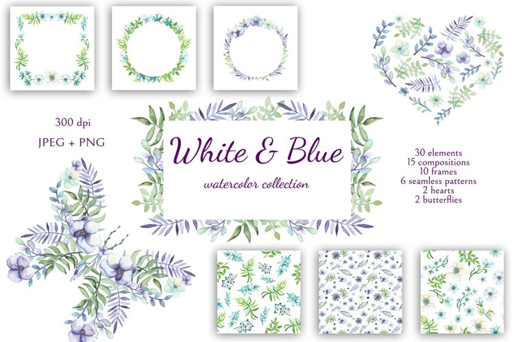 White and Blue - Free Design of The Week Font