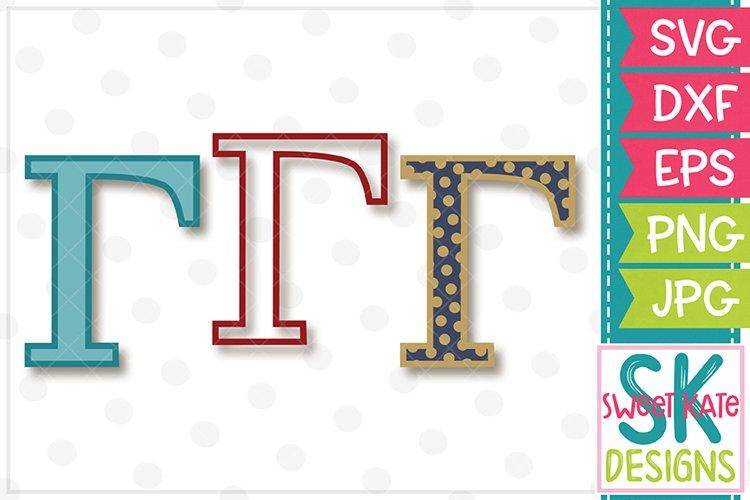 Greek Alphabet Gamma SVG DXF EPS PNG JPG example image 1