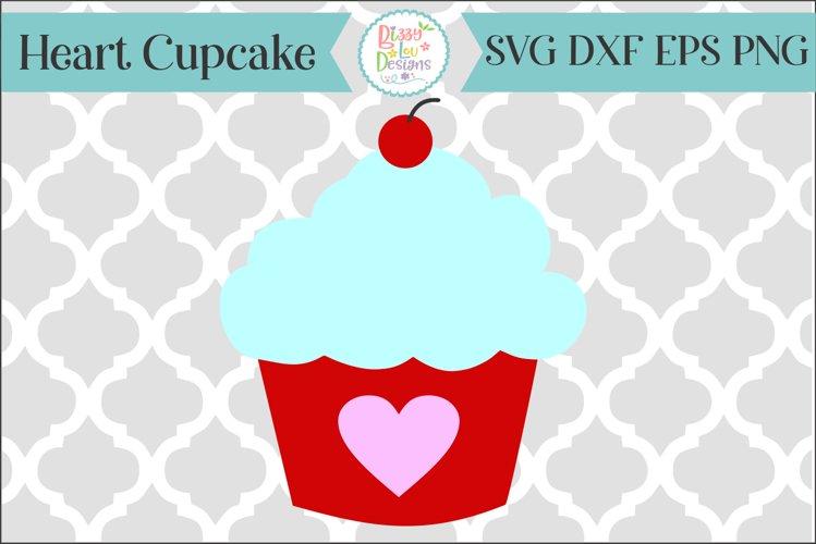 Heart Cupcake SVG Valentines SVG
