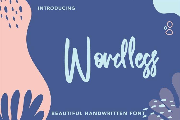 Web Font Wordless - Beautiful Handwritten Font example image 1