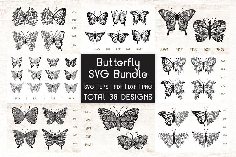 Butterfly SVG Bundle - Floral Mandala Butterfly Bundle