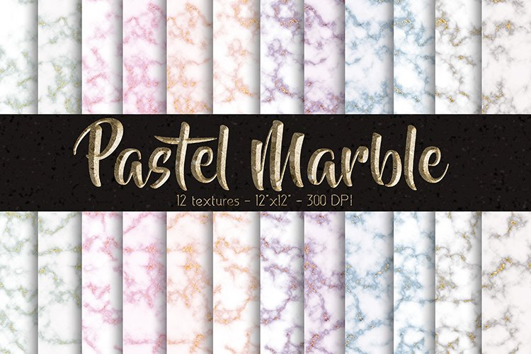 Pastel Marble Digital Paper Set