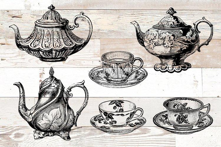 Coffee Tea Vintage Bundle PNG, EPS, SVG Vector