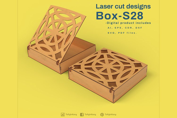 Gift Box - Laser cutting File example image 1