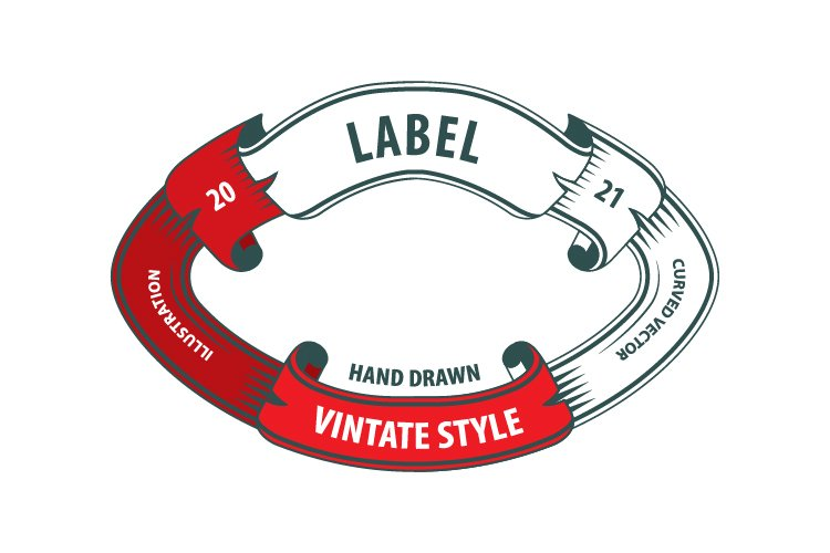 Vintage style labels set. example image 1