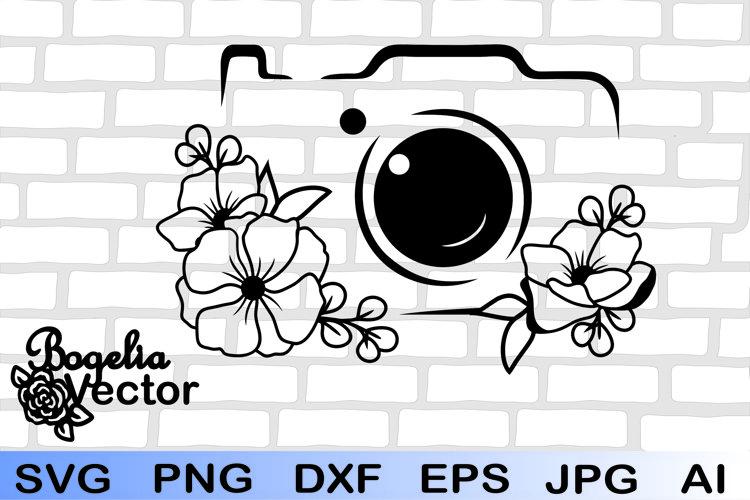 Camera Svg, Floral Camera Svg, Camera Png, Photographer Svg
