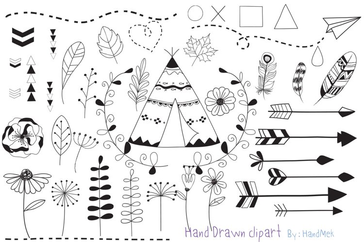 Hand Drawn clipart example image 1