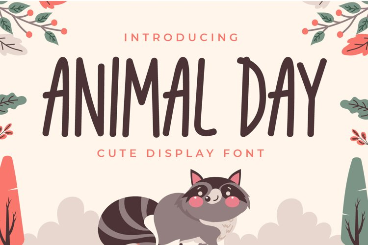 Animal Day - Cute Display Font example image 1