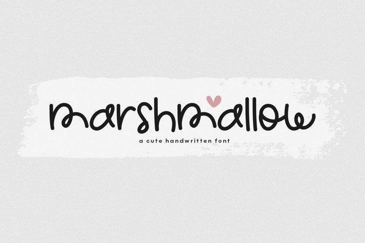 Marshmallow - A Cute Handwritten Font example image 1