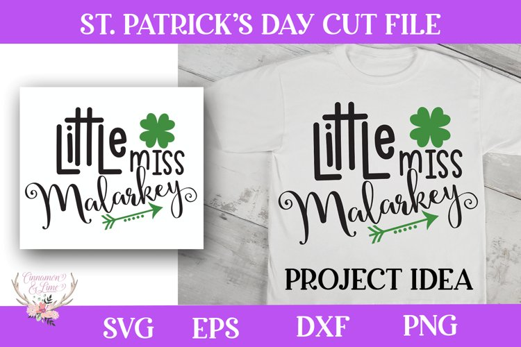 St. Patrick's Day SVG - Little Miss Malarkey example image 1