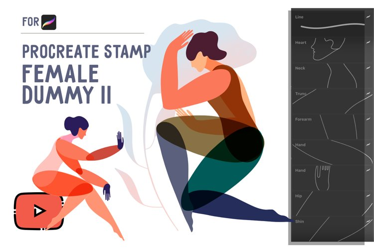 Procreate Stamp Female DUMMY II