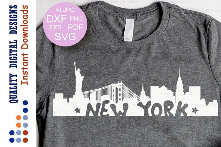New york Skyline svg New york clipart Statue of Liberty