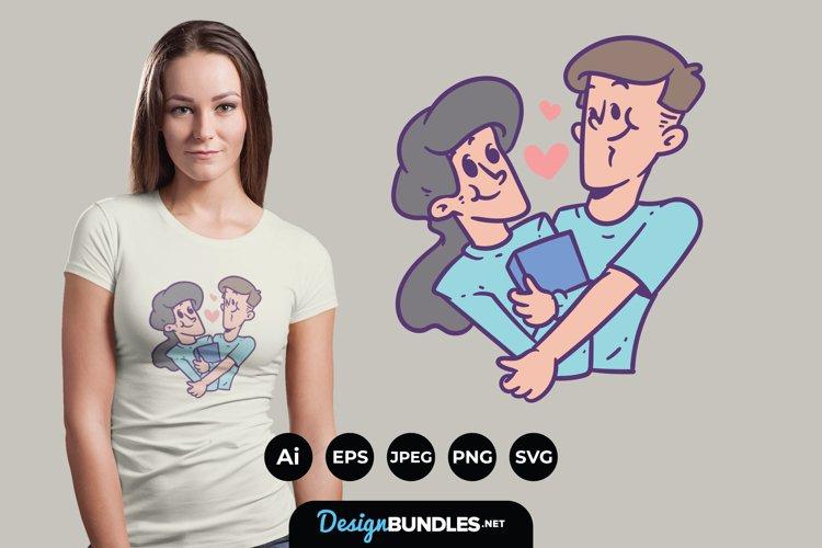 Couple Illustrations for T-Shirt Design