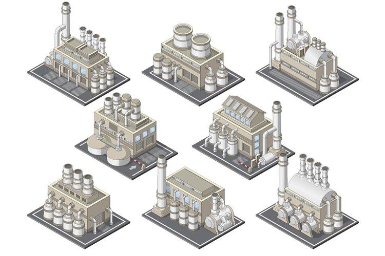 Set of Industrial Buildings. example image 1