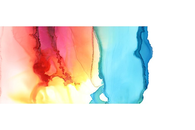 Art Abstract paint blots background. Alcohol ink colors. example image 1