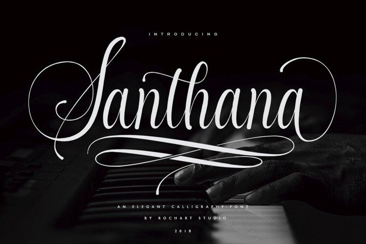 Santhana Calligraphy example image 1
