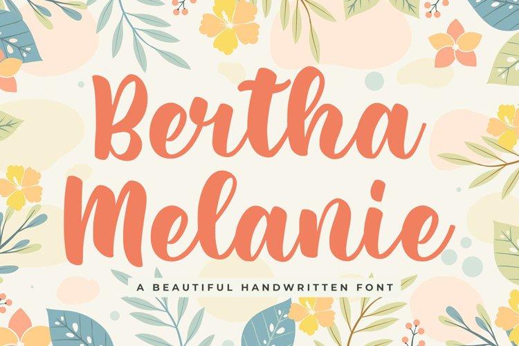 Beautiful Script Font - Bertha Melanie