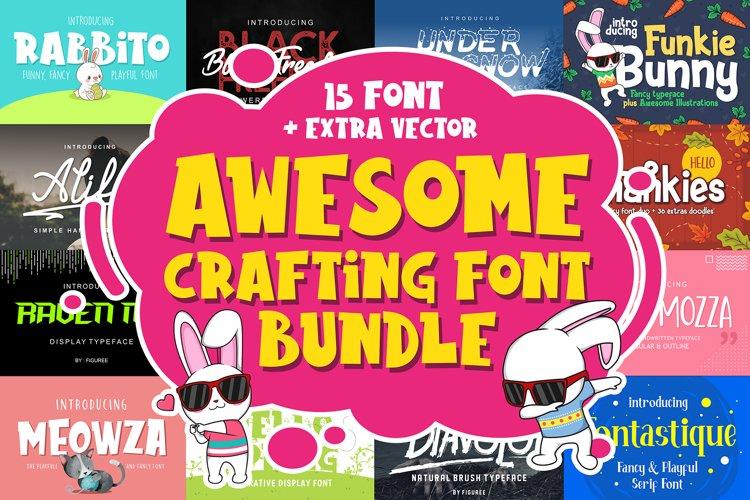 Awesome Crafting Font Bundle example image 1