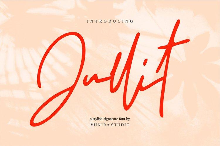 Jullit   Stylish Signature Font example image 1