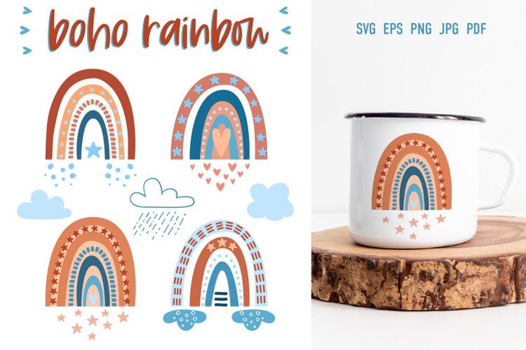 Bohemian Rainbow | SVG Cut Files example image 1