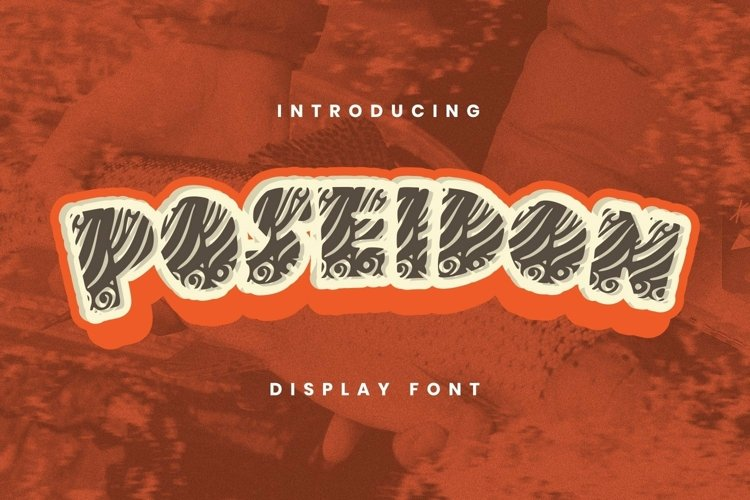 Web Font Poseidon Font example image 1