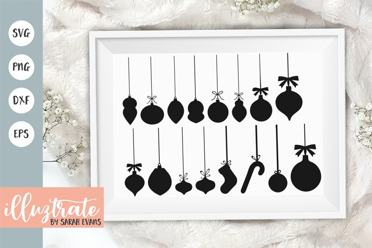Baubles SVG Cut File | Christmas Ornament SVG example image 1