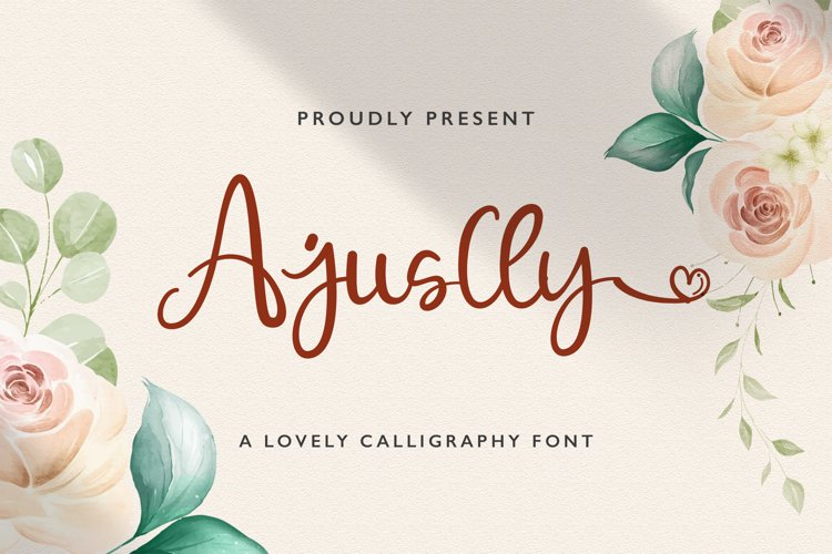 Ajuslly - Modern Calligraphy Font example image 1