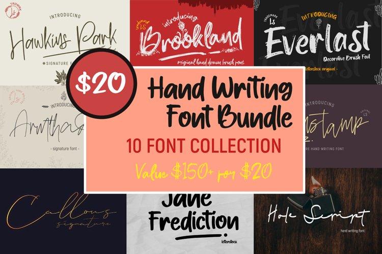 Hand Writing Font Bundle example image 1