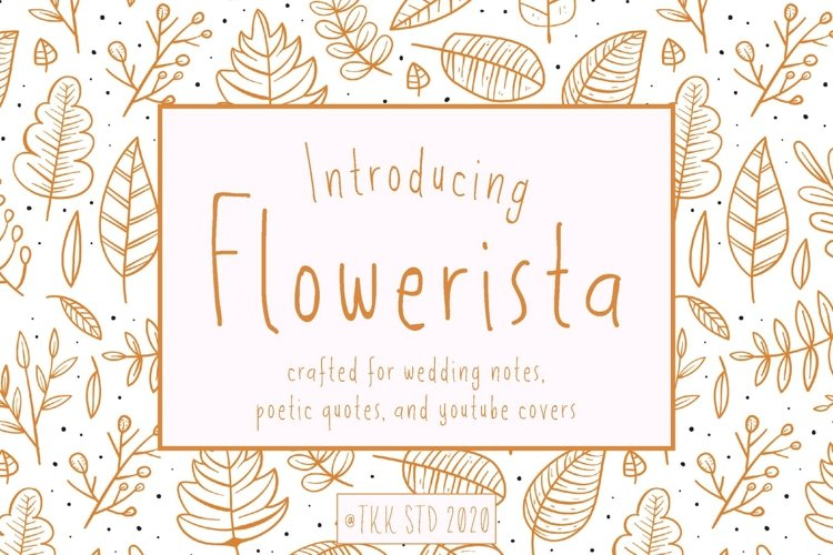 Flowerista - Girly Handwriting Floral Style example image 1