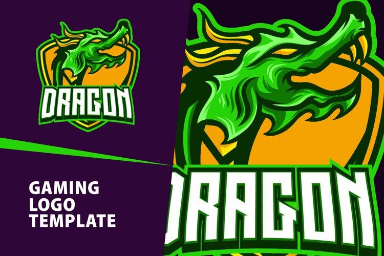 Dragon Gaming Logo Template example image 1