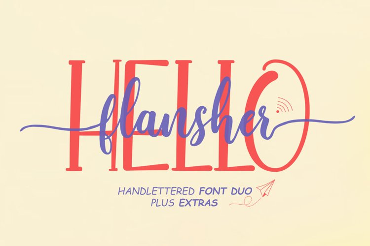 Hello Flansher Font Duo & Extras
