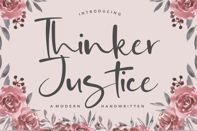 Thinker Justice Modern Handwritten Font example image 1