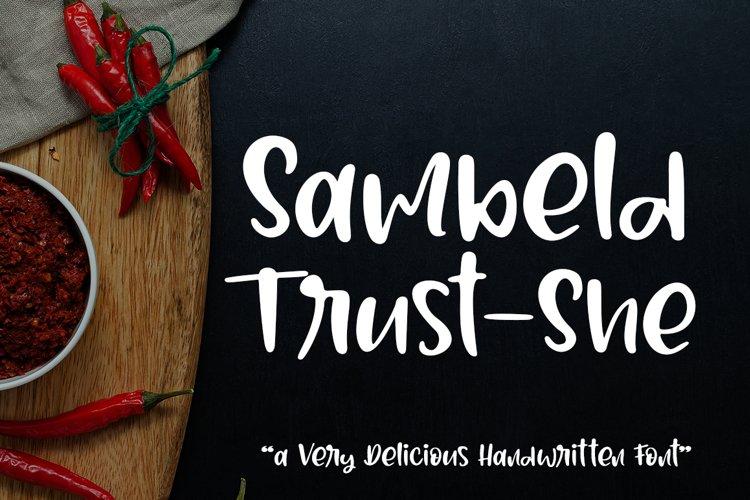 Sambeld Trust-She // Delicious Handwritten Font example image 1