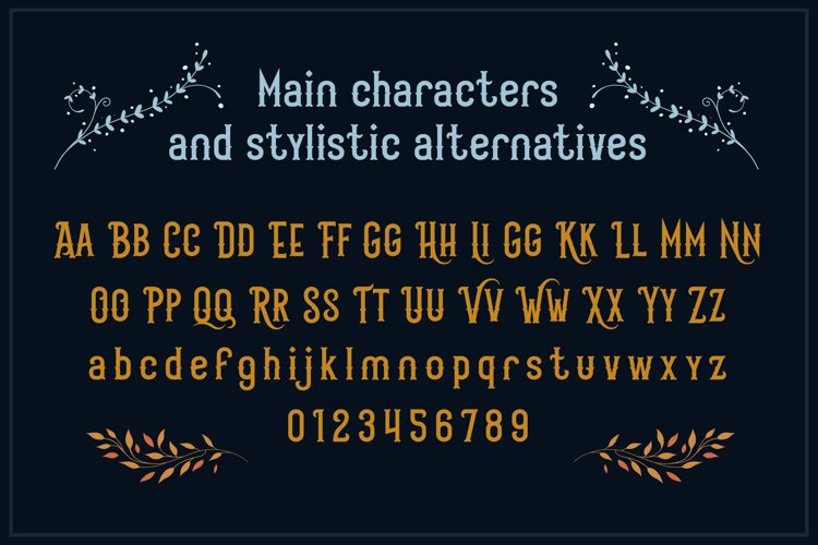 Scarytale - vintage multi-layered font example 2
