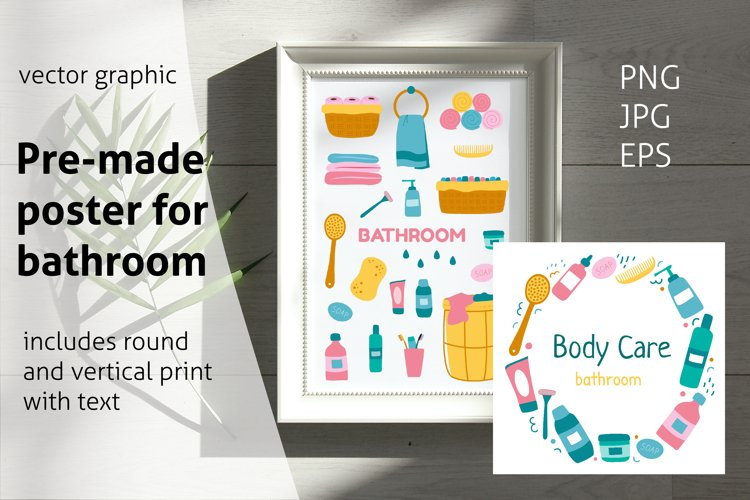 Wall art for Barhroom Sublimation example image 1