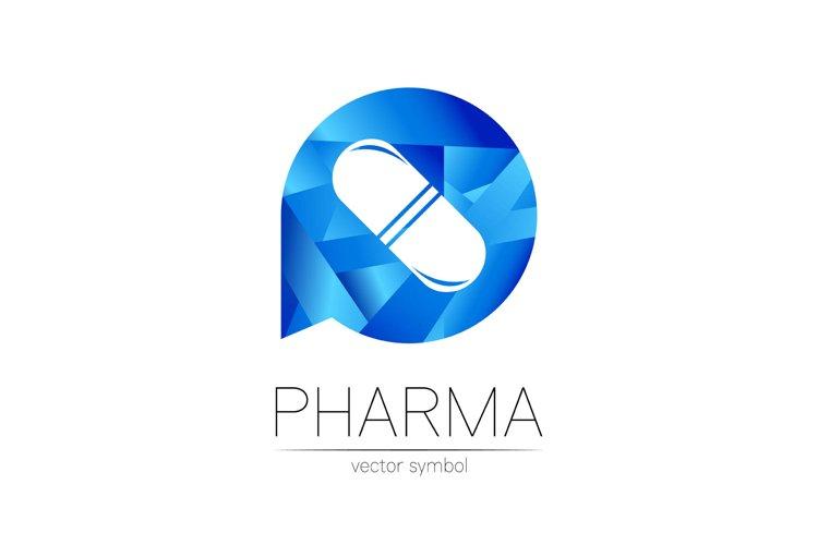 Pharmacy vector symbol for pharmacist, pharma store, doctor