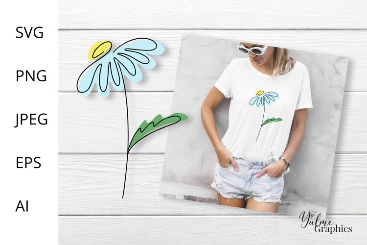 Daisy Flower SVG. Flowers SVG. T shirt Design. Camomile.