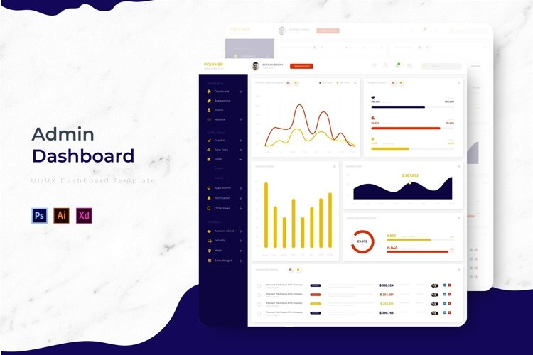 Polymer Dashboard | Admin Template example image 1