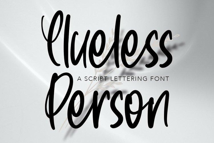 Web Font CluelessPerson - Script Lettering Font