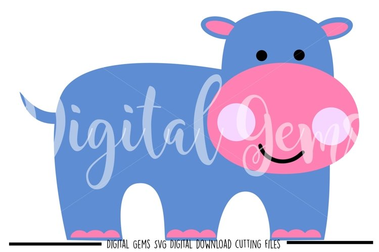 Hippo SVG / PNG / EPS / DXF files example image 1