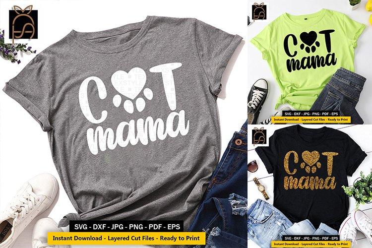 Cat Mama - Cat mom - Cat Vibes SVG DXF EPS PN