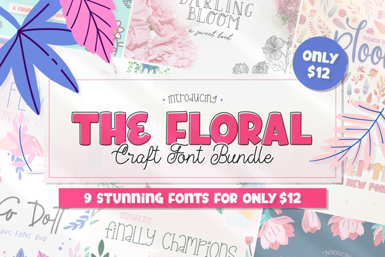 The Floral Craft Font Bundle example image 1